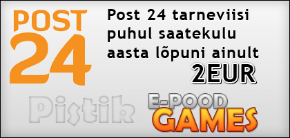 Pistiku e-poest võimalik nüüd mänge tellida ka läbi Post24