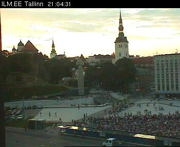 Saksamaa vs Hispaania Tallinnas Vabaduse platsil