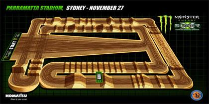 Austraalia Super X superkrossisarja Sydney etappi kaart