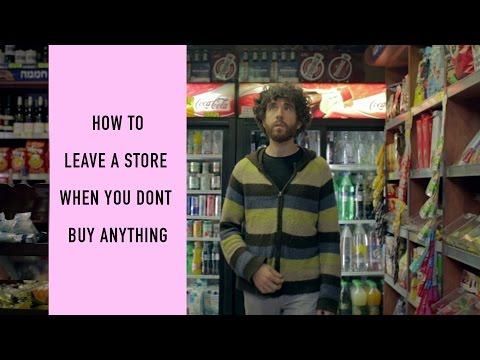 Kuidas lahkuda poest midagi ostmata?