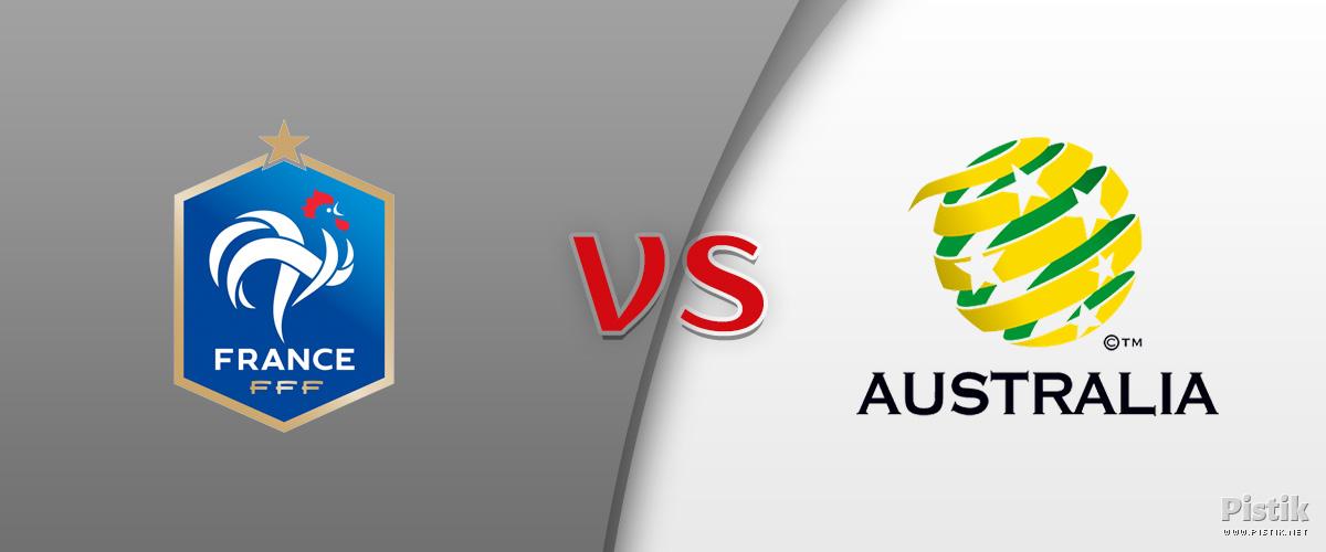 Prantsusmaa sai läbi raskuste 2 : 1 võidu Austraalia üle