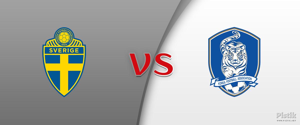 Rootsi ja Lõuna-Korea tasavägine 1 : 0 mäng