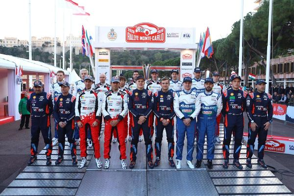 WRC hooaeg 2020 algab täna õhtul Monte Carlo ralliga, lisatud ajakava