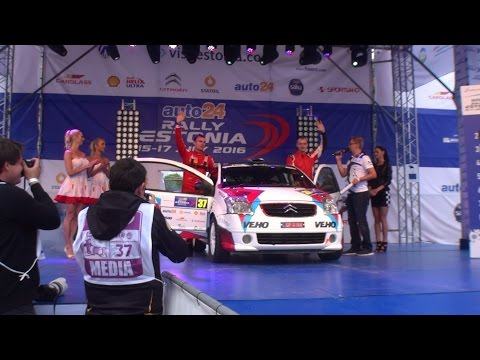 auto24 Rally Estonia 2016 - 1. päev, stardipoodium