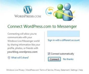 WordPressi ja Messenger Connect integratsioon